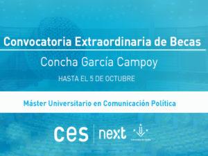 Convocatoria Extraordinaria de Becas Concha García Campoy