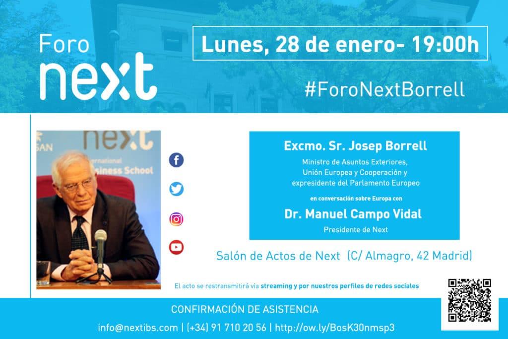 Josep Borrell Foro Next