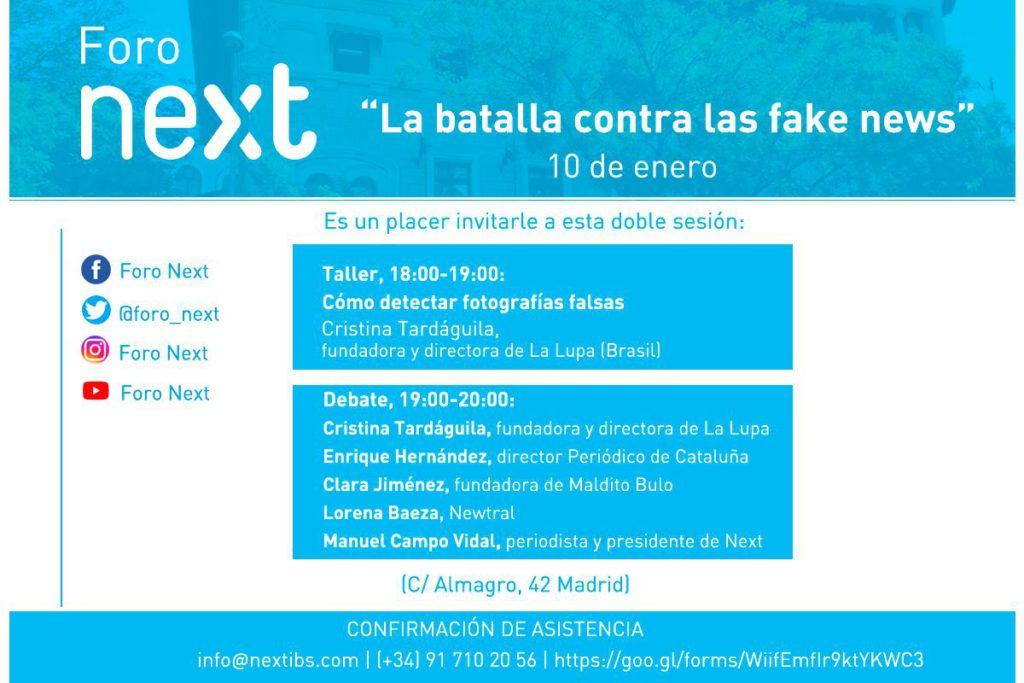"""Foro Next: """"la batalla contra las fake news"""