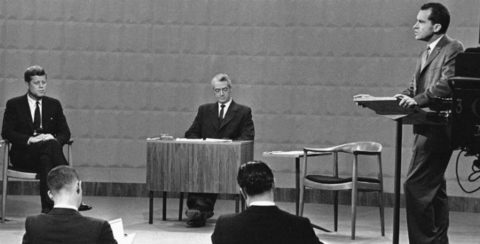 Primer debate entre Nixon y kennedy en 1960