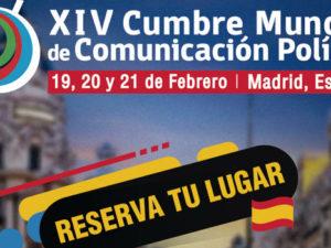 Docentes de CES Next participarán en la XIV Cumbre Mundial de Comunicación Política