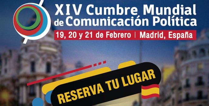 Cartel XIV Cumbre Mundial de Comunicación Política