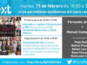 Fernando Jáuregui presentará su libro sobre la Transición con motivo del aniversario del 23-F