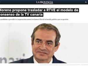 La prensa recoge la comparecencia del profesor Francisco Moreno (Next Educación) en el Congreso con su proyecto de gestión de RTVE